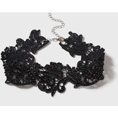 Dorothy Perkins Black Lace Choker Necklace ($17) ❤ liked on Polyvore featuring jewelry, necklaces, black, lace choker necklace, choker jewelry, dorothy perkins, lace jewelry and lace choker