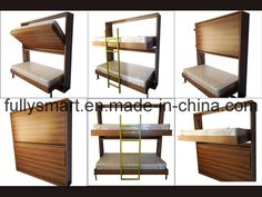 China New Design Twins Bunk Bed Find details about China Bed, Murphy Bed from New Design Twins Bunk Bed - Foshan Fully Smart Furniture Co. Modern Bunk Beds, Twin Bunk Beds, Beds For Small Spaces, Smart Furniture, Murphy Bed, Cot, News Design, Boy Room, Wood Projects