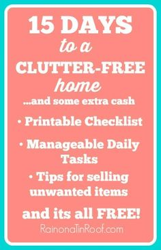 15 Days to a Clutter-Free Home