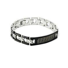 Great Wall  Pattern Titanium Steel Men\'s Bracelets Chain Titanium Steel Jewelry Wholesale China Jewelry