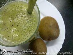 Banános-kiwi ital Kiwi, Hummus, Pudding, Ethnic Recipes, Desserts, Food, Flan, Postres, Puddings