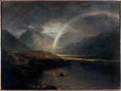 JMW Turner | Lake Buttermere , with Part of Cromackwater, Cumberland, a Shower Canvas; 889 × 1194 mm frame: 1092 × 1400 x 85 mm