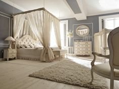 Ivory canopy bedroom