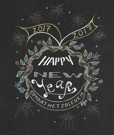 Oud en nieuw | nieuwjaarswens | handletteren | new year