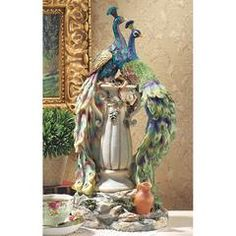 Classic Garden Decor – XoticBrands Home Decor Peacock Decor, Peacock Bird, Peacock Colors, Peacock Theme, Peacock Design, Bird Statues, Garden Statues, Design Toscano, Chalk Drawings