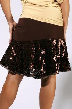 Zdenka Arko Latin Dance Skirt S1002 | Dancesport Fashion @ DanceShopper.com