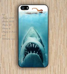 iPhone 5s 6 case shark and swimmer Dream colorful phone case iphone case,ipod case,samsung galaxy case available plastic rubber case waterproof B475