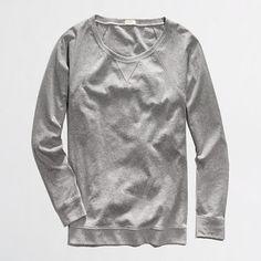 Factory heathered sweatshirt - sweatshirts & cardigans - FactoryWomen's Knits & Tees - J.Crew Factory
