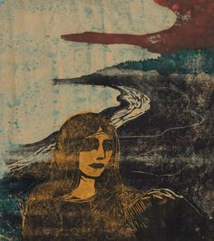 Woman's Head against the Shore by Edvard Munch