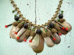 Necklace - Repurposed Vintage - Gone Fishing. $110.00, via Etsy.