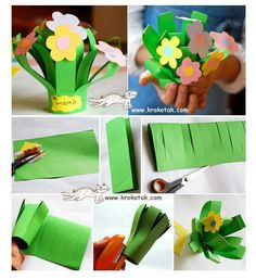 Flower bouquet craft for mama Spring Activities, Craft Activities, Preschool Crafts, Easter Crafts, Crafts For Kids, Children Activities, Spring Crafts, Holiday Crafts, Diy With Kids