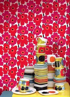 Xana Gomez: Papel de parede - Marimekko  Sirpi