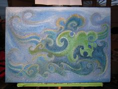 Dragon Logo painting by Kathleen Scott for Cloud 10 Esthetics