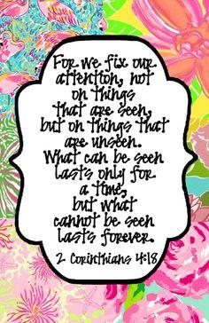 2 Corinthians 4:18.  Fri. 8/22/14 Jesus Vitamins