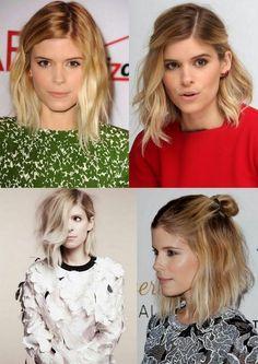 Simple Everyday Hairstyle for Short Hair: Women Haircuts | Bob, Long Bob = Lob, Wave Bob = Wob Corte de Cabelo Curto 2015 Kate Mara