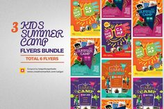 Kids Summer Camp Flyers Bundle by Satgur Design Studio on @creativemarket