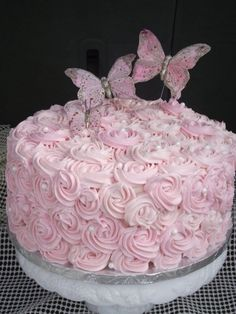 pink rose cake By corine68 on CakeCentral.com
