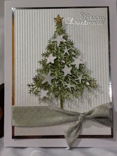 Amy's Crafting Space: Christmas in July- Starfish Tree Card