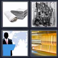 4 fotos 1 palabra periodicos maquina - Pulsa sobre la foto para ver la solución