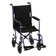 Nova 19 Lightweight Transport Chair - Blue
