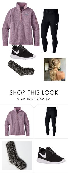 """""""Got 3 Patagonia's this week!"""" by lorla3407 on Polyvore featuring Patagonia, NIKE and American Eagle Outfitters"""