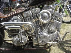 'When Push Comes To Shove' Harley Davidson Shovelhead by Paul Cox and Keino Sasaki from Indian Larry Legacy