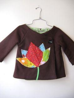 Lotus kimono coat  0/6m up to 5T by ManiMina on Etsy, $30.00