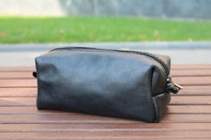 Personalized leather men's toiletry bag, leather travel bag, bridesmaids gift…