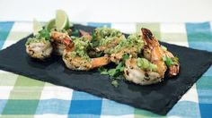 Green  Tomato  Salsa  with Grilled Shrimp (use chicken)