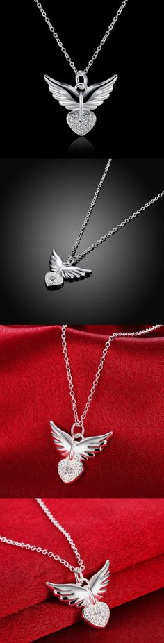 Angel Heart Wings Necklace! Click The Image To Buy It Now or Tag Someone You Want To Buy This For. #husbandinheaven