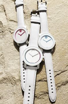 Summer watch! Movado Crystal White Watches