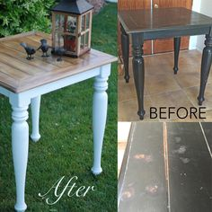 Faux Stain with Chalk Paint