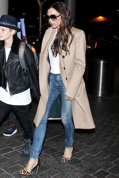 It's always rare to see Victoria Beckham in jeans—but when she does it, she still looks just as polished as when she wears one of her go-to frocks.