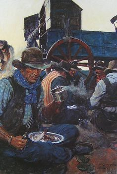 Wyeth, N.C. (1882-1945) - 1904-05 The Lee of the Grub Wagon