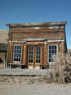 Ghost town - Bannack, MT - The Assay office, one of the first buildings in Bannack.