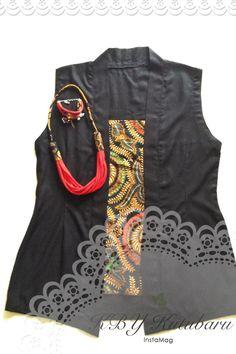 Kebaya seri PUTRI from VIS_indonesia hadir santai dgn design tanpa lengan. Berkutu baru batik tulis SOGAN asli YOGYAKARTA