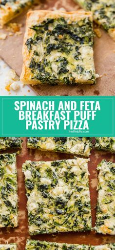 Spinach and Feta Breakfast Puff Pastry Pizza Spinach and Feta Breakfast Puff Pastry Pizza is light and savory with a flaky puff pastry crust. This is the perfect, easy, throw-together brunch option! Spinach Puff Pastry, Puff Pastry Pizza, Savory Pastry, Puff Pastries, Breakfast Puff Pastry, Savory Breakfast, Brunch Recipes With Puff Pastry, Easy Pastry Recipes, Puff Pastry Appetizers