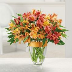 Alstroemeria signify devotion, prosperity and fortune. This awesome arrangement delivers all these sentiments and more.