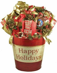 Extra Large, Premium Holiday Gourmet Food Gift Basket - 15' Diameter Tub over 2 Feet Tall at Presentation - Includes a Gift Tower * Learn more by visiting the image link.