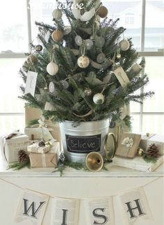 Tabletop Christmas Trees - Christmas Tree Decorating Ideas - Good Housekeeping