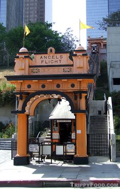 Angels Flight Railway - each ride takes about a minute and four seconds and costs a cheap 50 cents.  http://angelsflight.com/