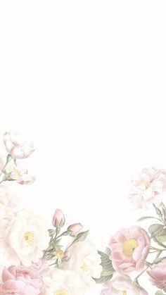 Blank elegant floral frame design | premium image by rawpixel.com / manotang Framed Wallpaper, Flower Background Wallpaper, Flower Backgrounds, Wallpaper Backgrounds, Iphone Wallpaper, Frame Floral, Flower Frame, Watercolor Wallpaper, Watercolor Flowers