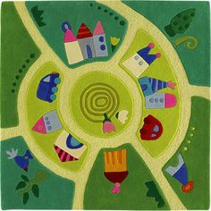 HABA Play World Area Rug - kids rugs - other metro - HABA USA