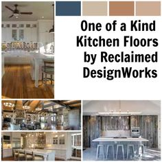 Find the perfect hardwood floor for your kitchen at Reclaimed DesignWorks.  www.reclaimeddesignworks.com  #hardwoodfloors #kitchenfloors #customhomes #luxuryhomes #interiordesign #reclaimedwood Reclaimed Hardwood Flooring, Wide Plank Flooring, Hardwood Floors, Kitchen Flooring, Dream Homes, Custom Homes, Luxury Homes, Interior Design, Wood Floor Tiles