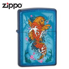 Zippo Cerulean Kio Fish Lighter Blue 5 3 >>> For more information, visit image link. (This is an affiliate link) Cool Lighters, Cigar Lighters, Cool Zippos, Zippo Collection, Light My Fire, Zippo Lighter, Vape Shop, Cerulean, Camping And Hiking