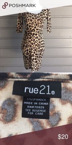 Rue 21 Leopard Print Bodycon Dress EUC Questions welcome, all offers considered! Rue21 Dresses