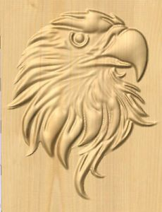Beautiful carved eagle GCODE for CNC machine.