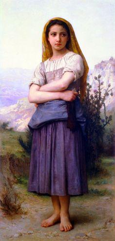 Tricoteuse by William Adolphe Bouguereau (1884)