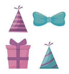 21st Party, Birthday Party Hats, 22nd Birthday, Happy Birthday Celebration, Happy Birthday Greeting Card, Cute Sheep, Cute Bunny, Adobe Illustrator, Cute Elephant