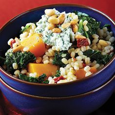 Barley Risotto with Roasted Butternut Squash - probably going to use Kamut or Quinoa myself because it's in my pantry!